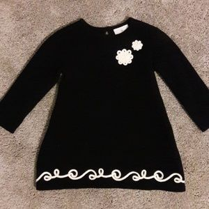 Hanna Anderson black knit sweater dress
